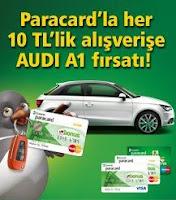 Garanti-Paracard-Audi-A1-Çekiliş-Kampanyası