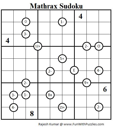 Mathrax Sudoku (Daily Sudoku League #81)