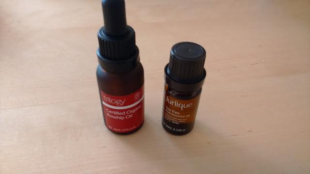 Trilogy Certified Organic Rosehip Oil and Jurlique Tea Trea Pure Essential Oil