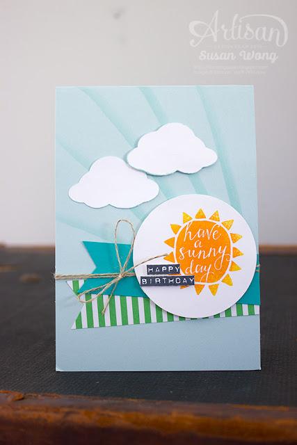 Silhouettes & Script Birthday Card ~ Susan Wong