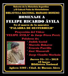 Homenaje a Felipe Ávila en la Biblioteca Nacional