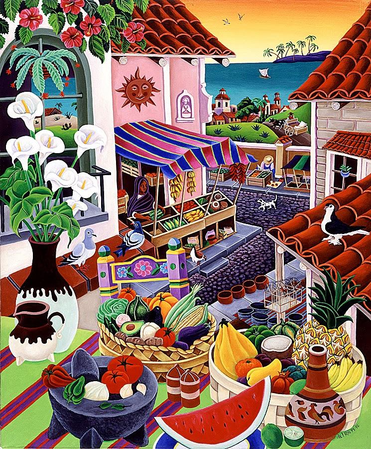Old Mexico Villages Coloring Pages Mexican Pueblos