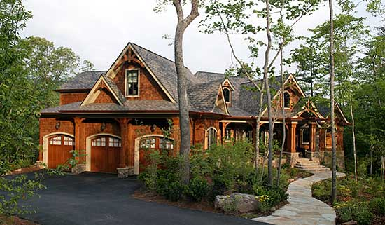 Luxury house stunning rustic craftsman home plan house for Luxury rustic homes