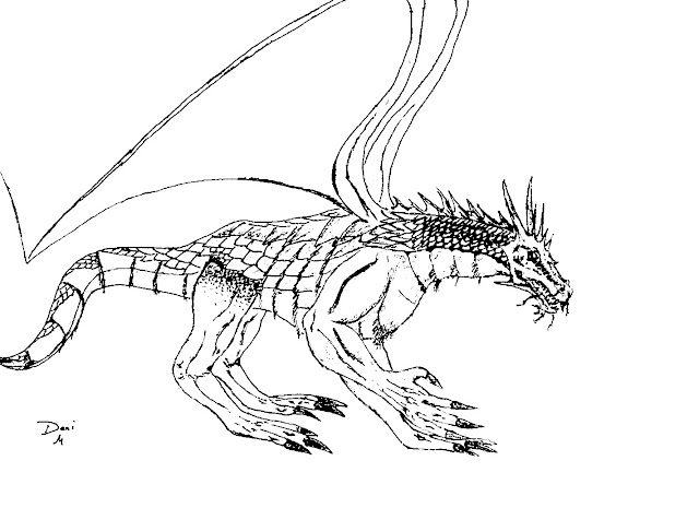 Scaly Dragon Free Printable Coloring Page