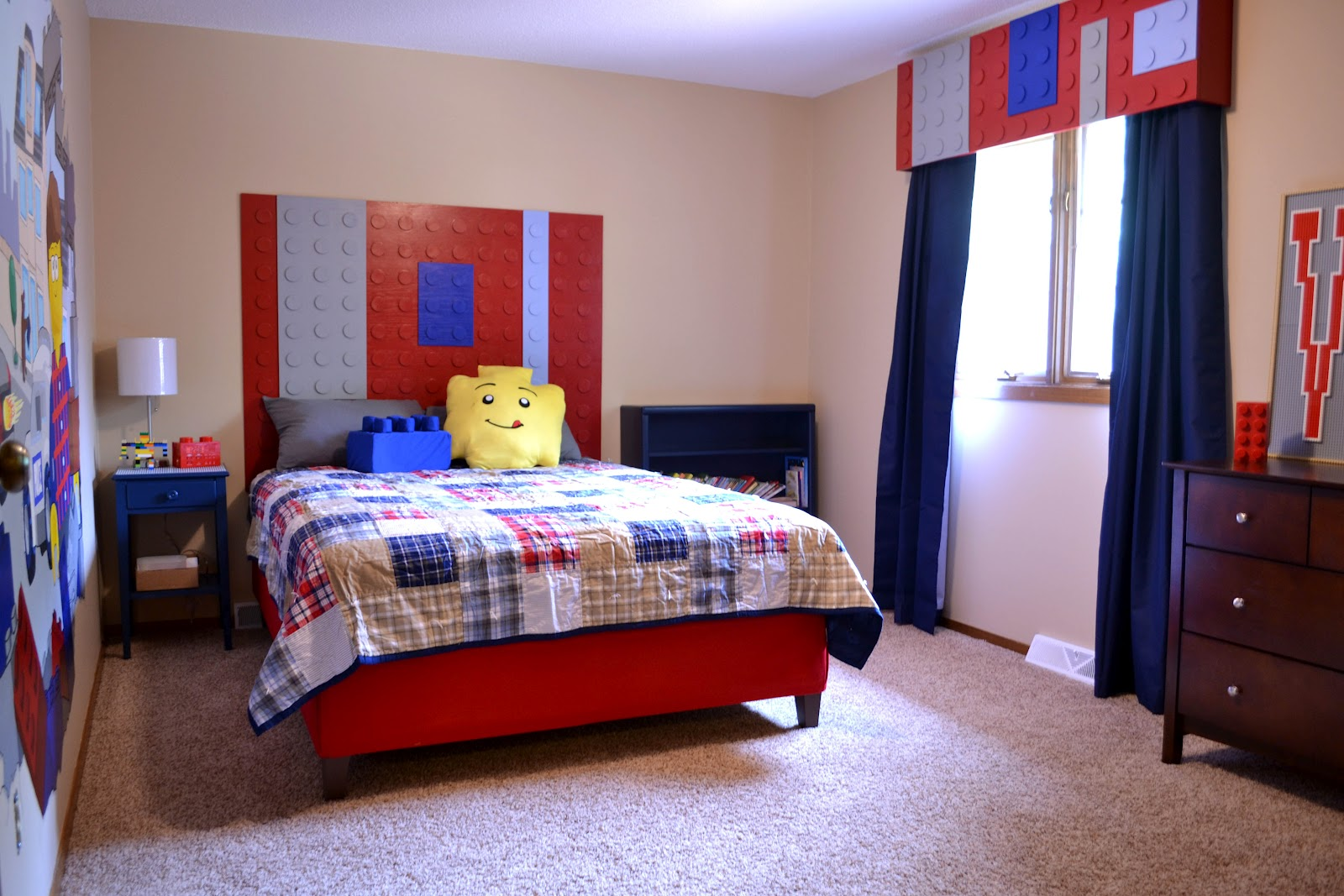 Heidi schatze lego vaughn red bright and blue for Boys red bedroom ideas