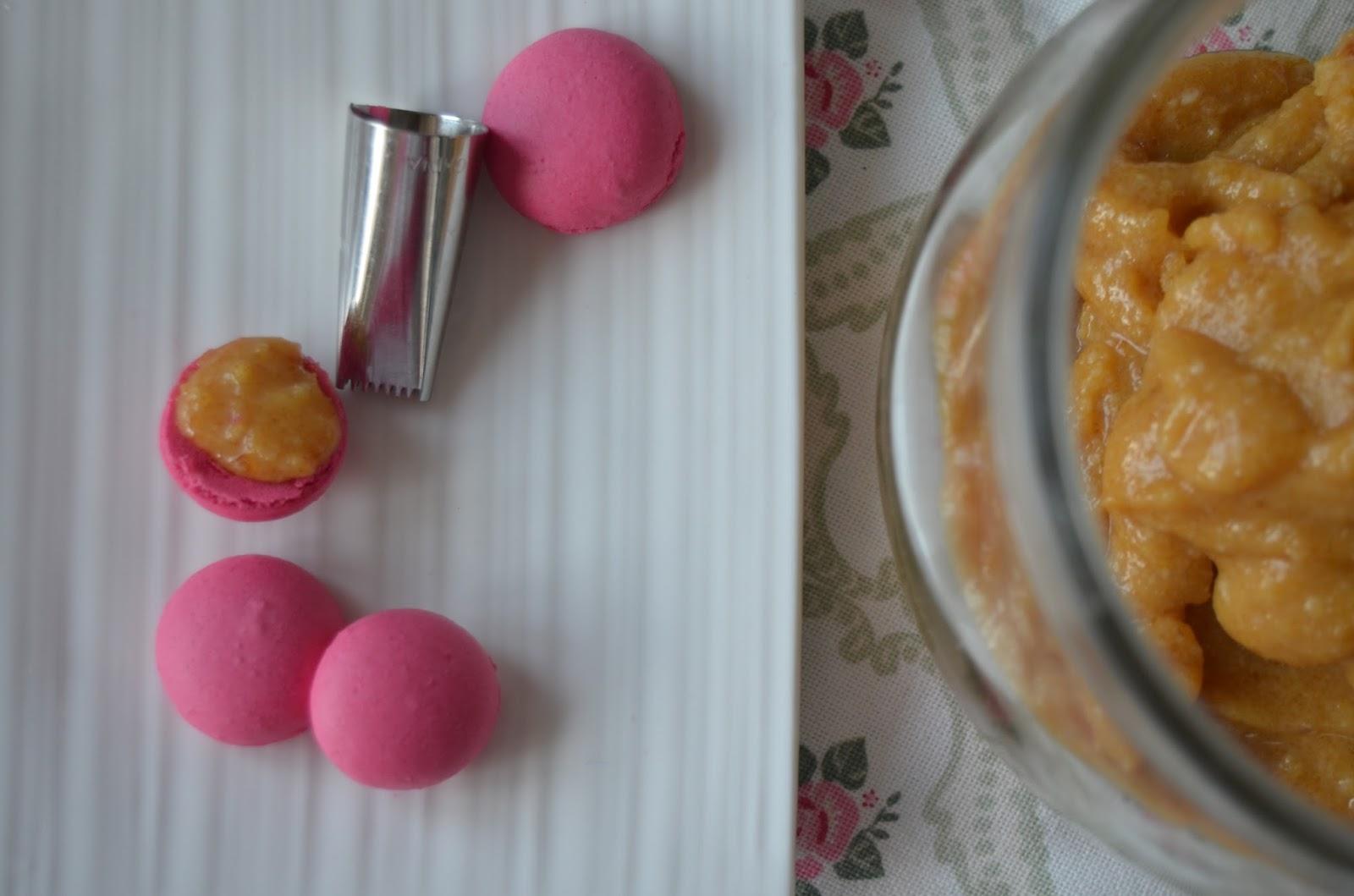 Tiny Macs rellenos de Praliné de Nueces de Macadamia