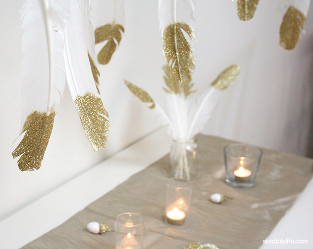 How to make a glitter feather chandelier materials feathers glitter
