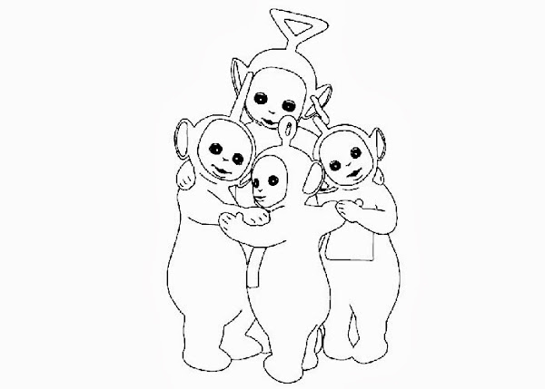 Teletubby Coloring Page
