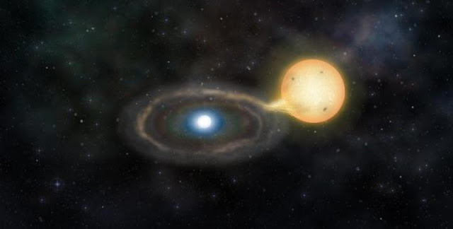 This is an artist's impression of Gaia14aae. Credit: Marisa Grove/Institute of Astronomy