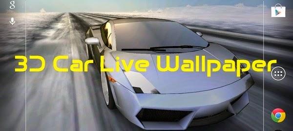 3D Car Live Wallpaper V2.8 Apk