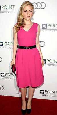 ANNA PAQUIN PINK MINI DRESS