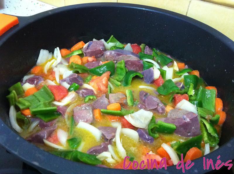 Cocina de in s h gado de ternera en salsa for Cocinar higado de ternera