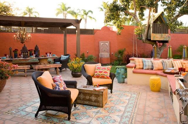 Decoracion de patios estilo morocco marroqui patios y for Decoracion patio de ropas