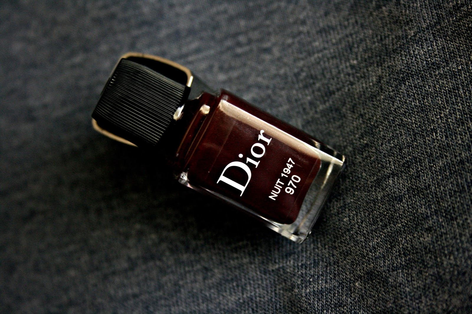 Dior Vernis Gel Shine and Long Wear Nail Lacquer in Nuit 1947 970 Review, Photos, Swatches