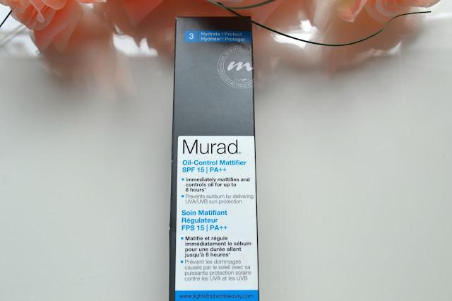 Murad Oil Control Mattifier SPF 15 , best sunscreen, murad sunscreen, montreal beauty blogger, canadian beauty blogger, lightsfashionbeauty