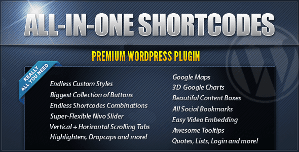 Image for All-In-One Shortcodes Plugin by CodeCanyon
