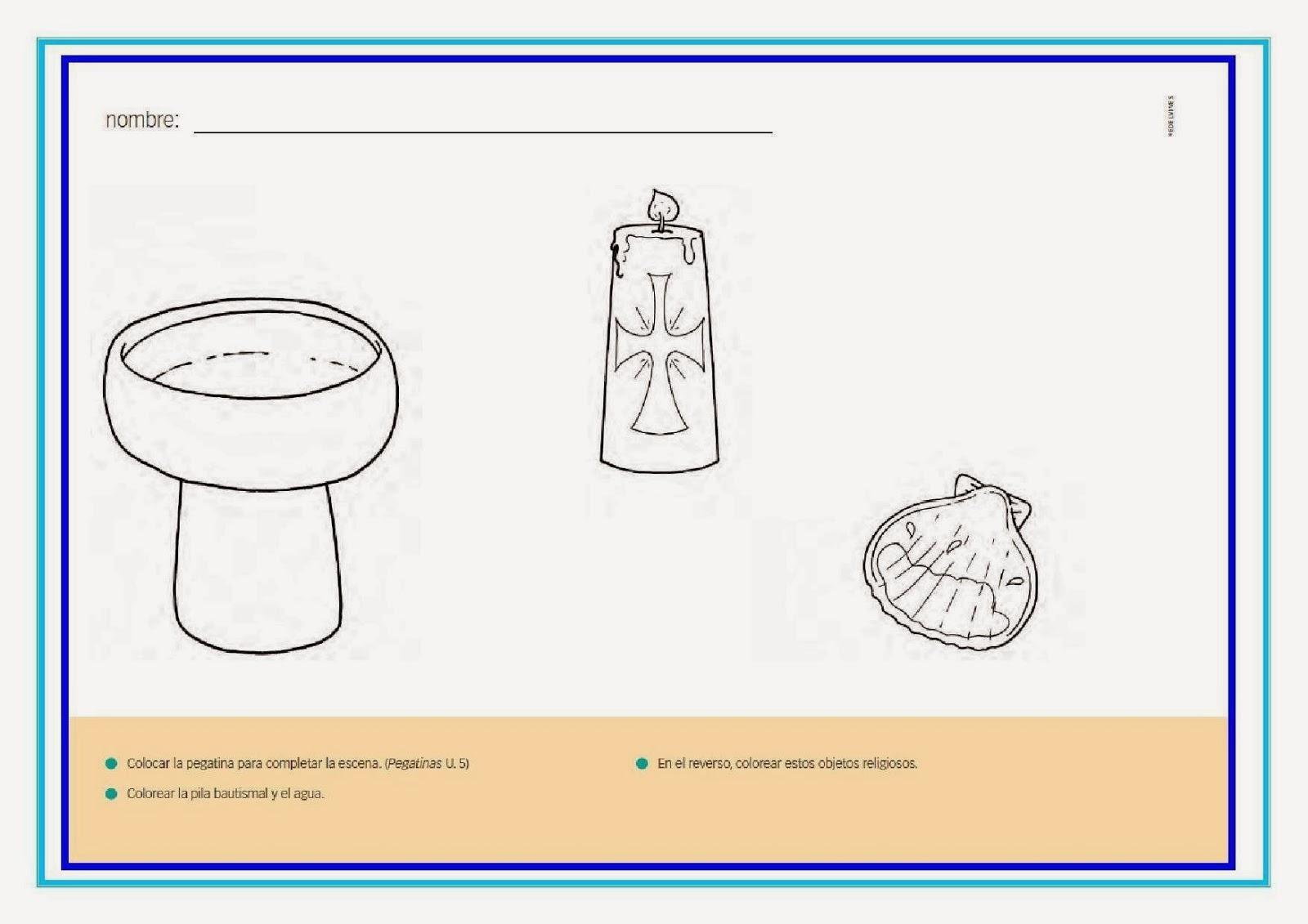 Dibujos de elementos de bautismo - Imagui