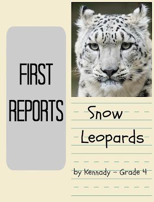 Snow Leopards - a first research paper (grade 4) on Homeschool Coffee Break @ kympossibleblog.blogspot.com