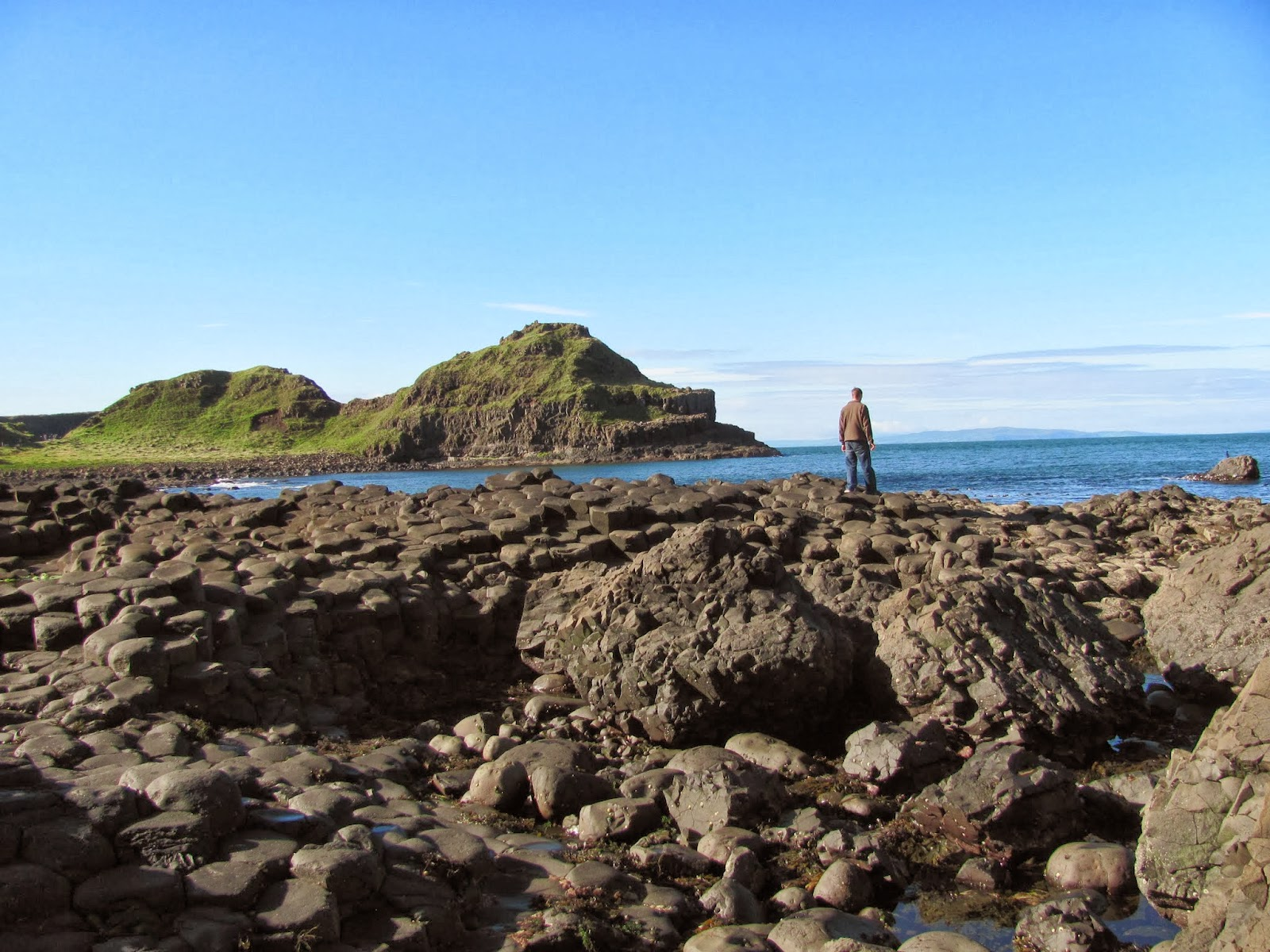 Cory looks at the water at Giant's Causeway