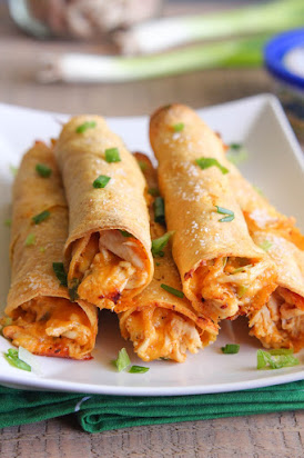 Baked Chicken Ranch Taquitos