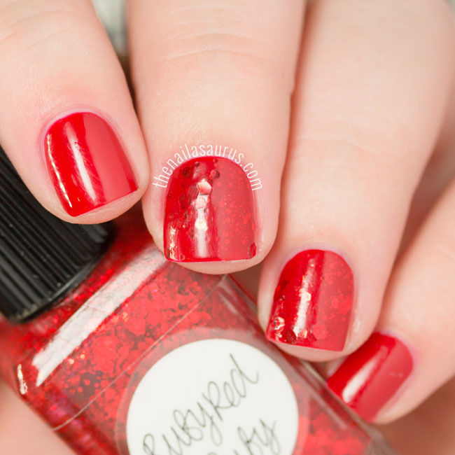 Barry M Red and Lynnderella Ruby Red Ruby