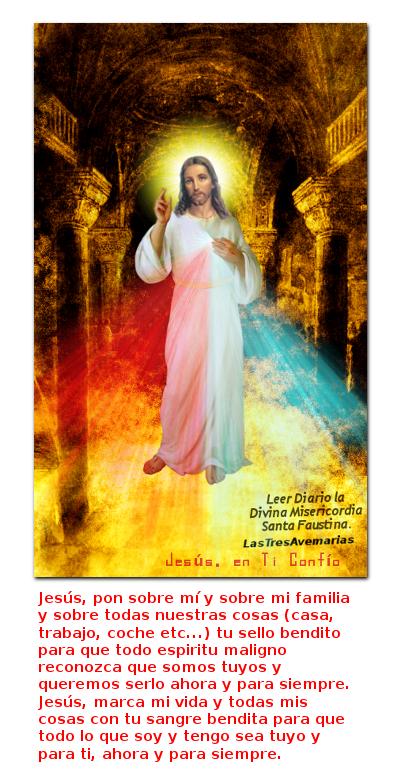 divina misericordia con oracion para darle todo
