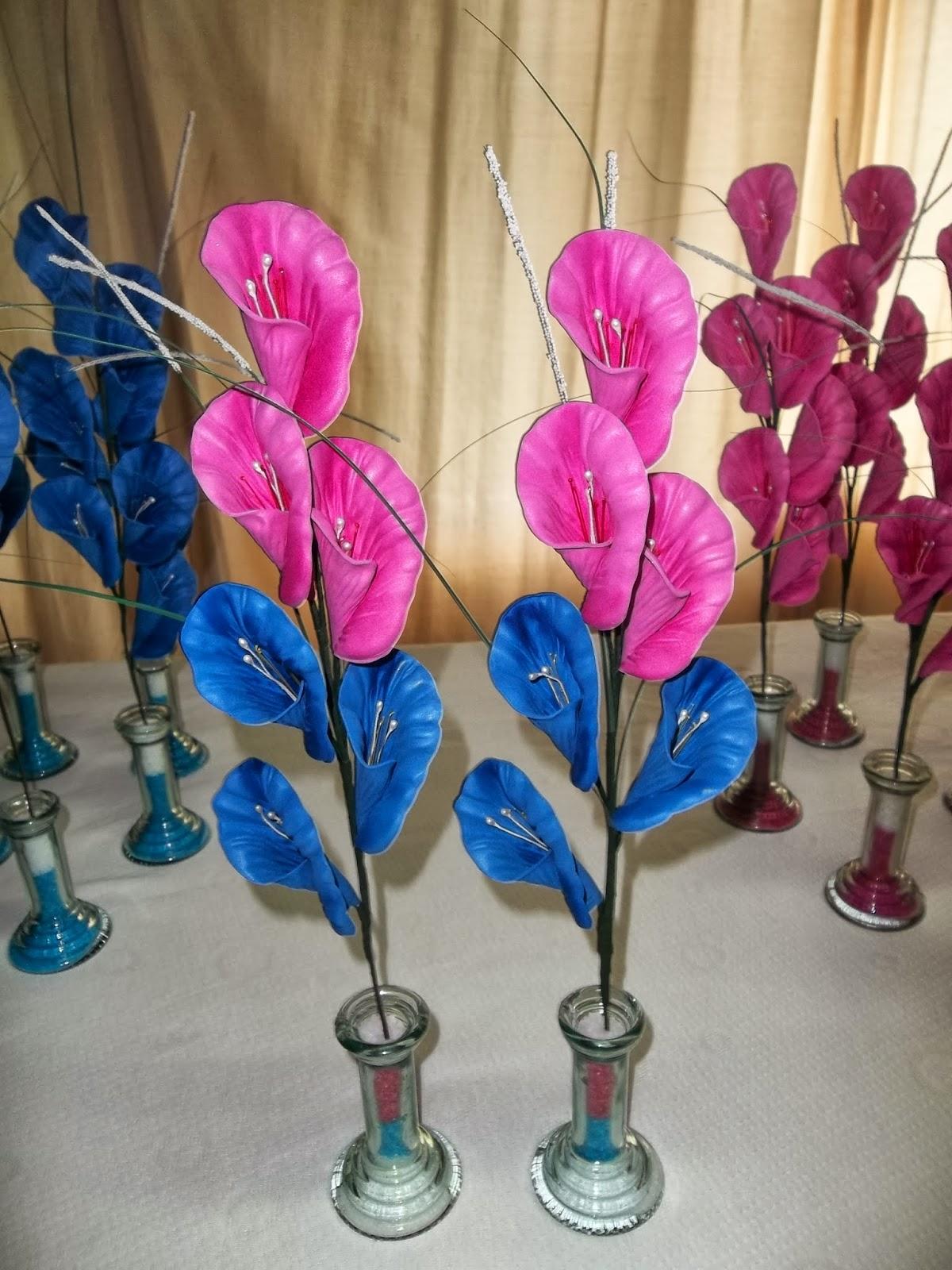 Flores En Goma Eva: Centro De Mesa - San Vicente
