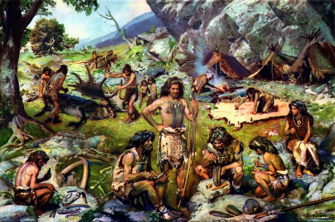 [NUDITE] -Saezher- Etudes, croquis et autres essais - Page 10 Burian+Zdenek,+encampment+of+late+paleolithic+hunters
