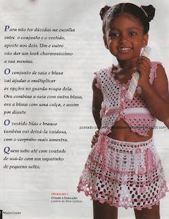 RECEITAS DE SAIA EM CROCHE