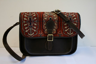 handmade carpet bag satchel