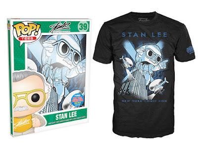 New York Comic Con 2015 Exclusive Pop! Tees T-Shirts by Funko - Stan Lee - Stan on Empire State Building
