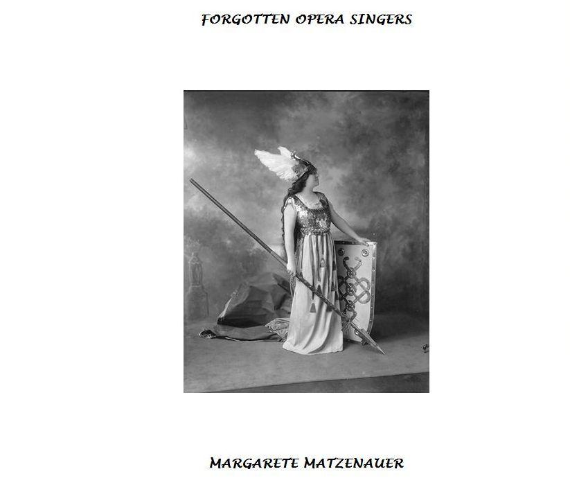 MARGARETE MATZENAUER (1881-1963) CD
