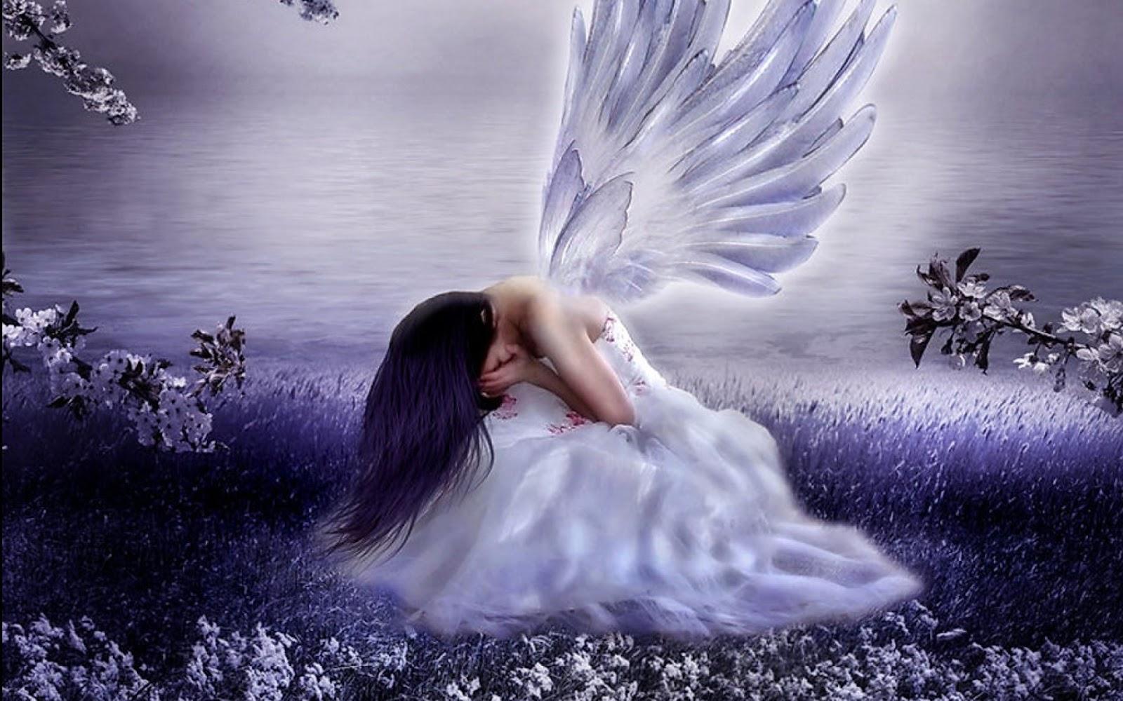 Bộ Sưu Tập Hình Ảnh Thiên Thần Dễ Thương nhừng buồn bã thất vọng vì tình yêu đôi lứa.