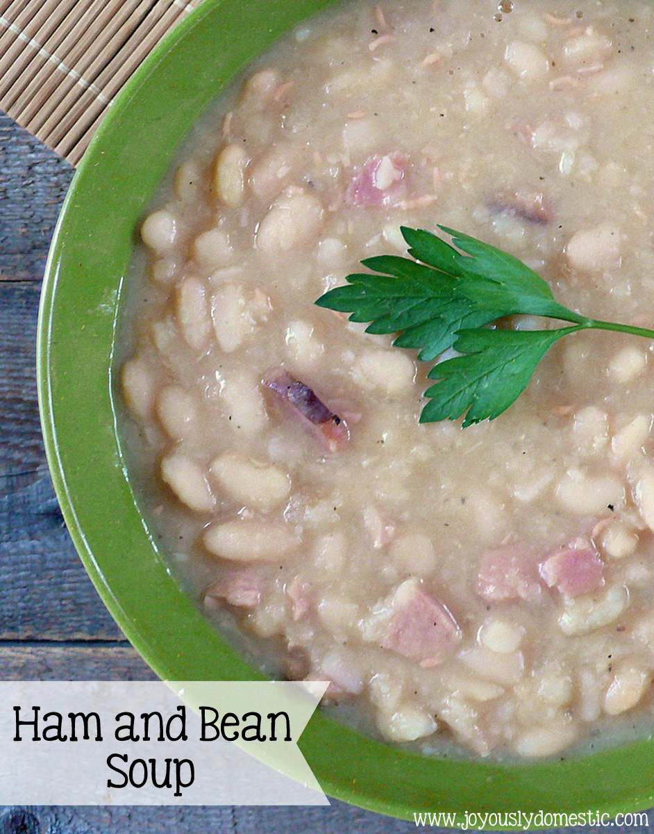 Joyously Domestic: Ham and Bean Soup