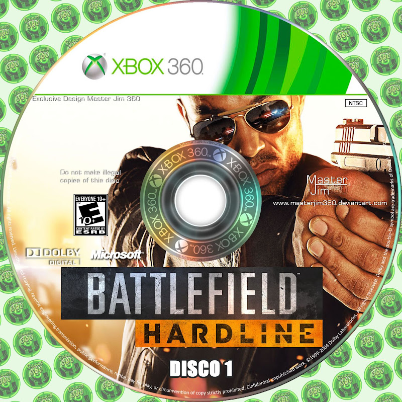 Label Battlefield Hardline Disco 1 Xbox 360