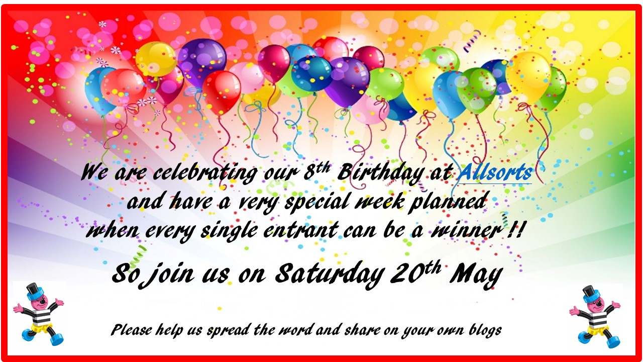 8th Birthday - All Sorts Challenge Blog