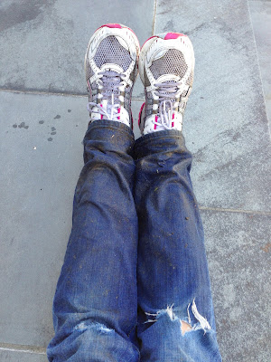 dirty shoes and jeans