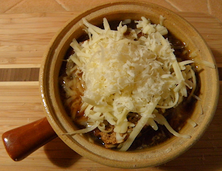 French Onion Soup with Bread and Cheese Topping