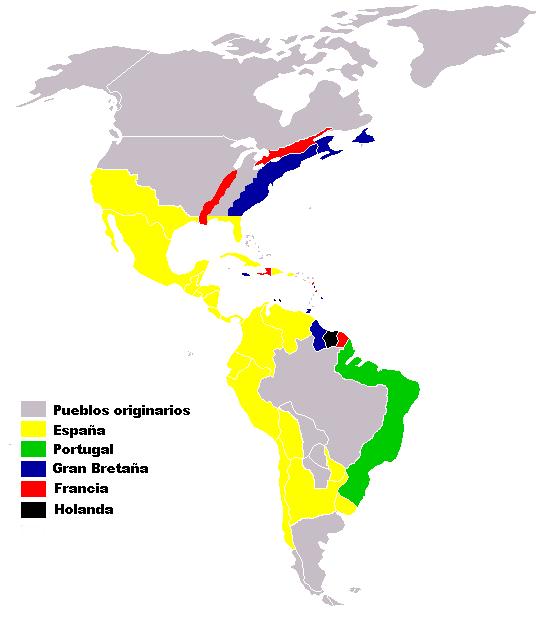 COLONIAS EUROPEAS EN AMÉRICA SIGLO XVI-XVIII
