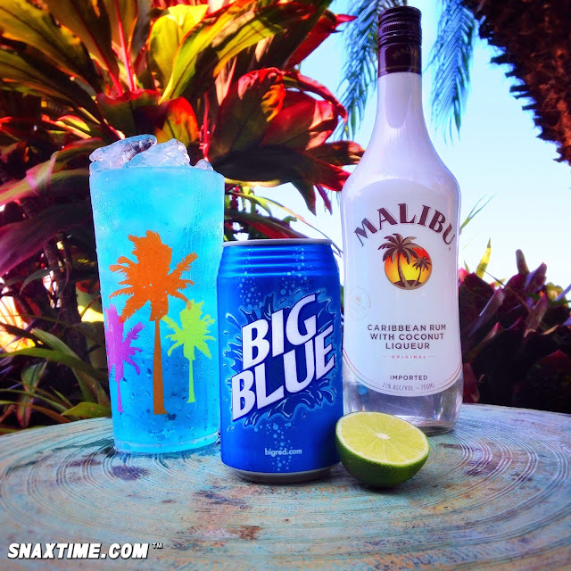 Southern Bliss Blog Haunting Halloween Cocktails: Big Mali'Blue Cocktail Recipe: TROPICAL ISLAND ELIXIR