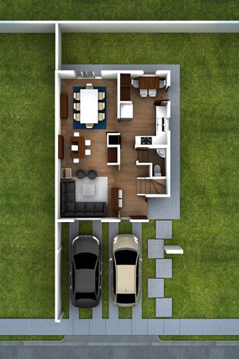 planos de casas 8 metros frente