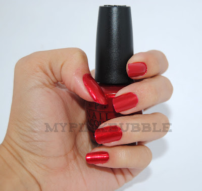 OPI Danke-Shiny red swatch