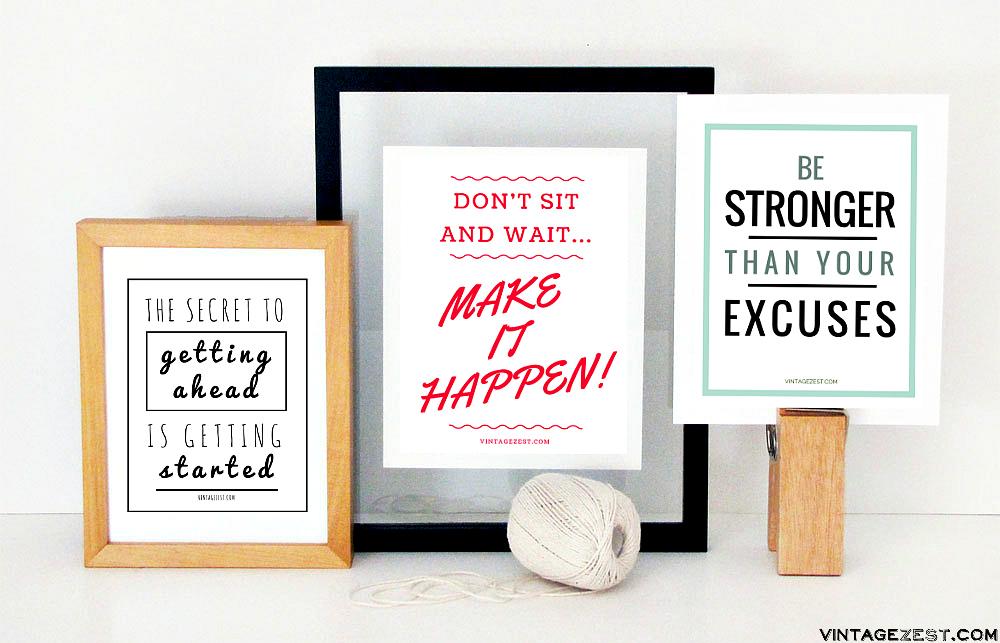 Motivational Printables & Phone Wallpapers on Diane's Vintage Zest!  #ad #V8LlenodeSabor