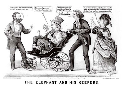 The elephant and his keepers. Currier & Ives. New York. 1872.