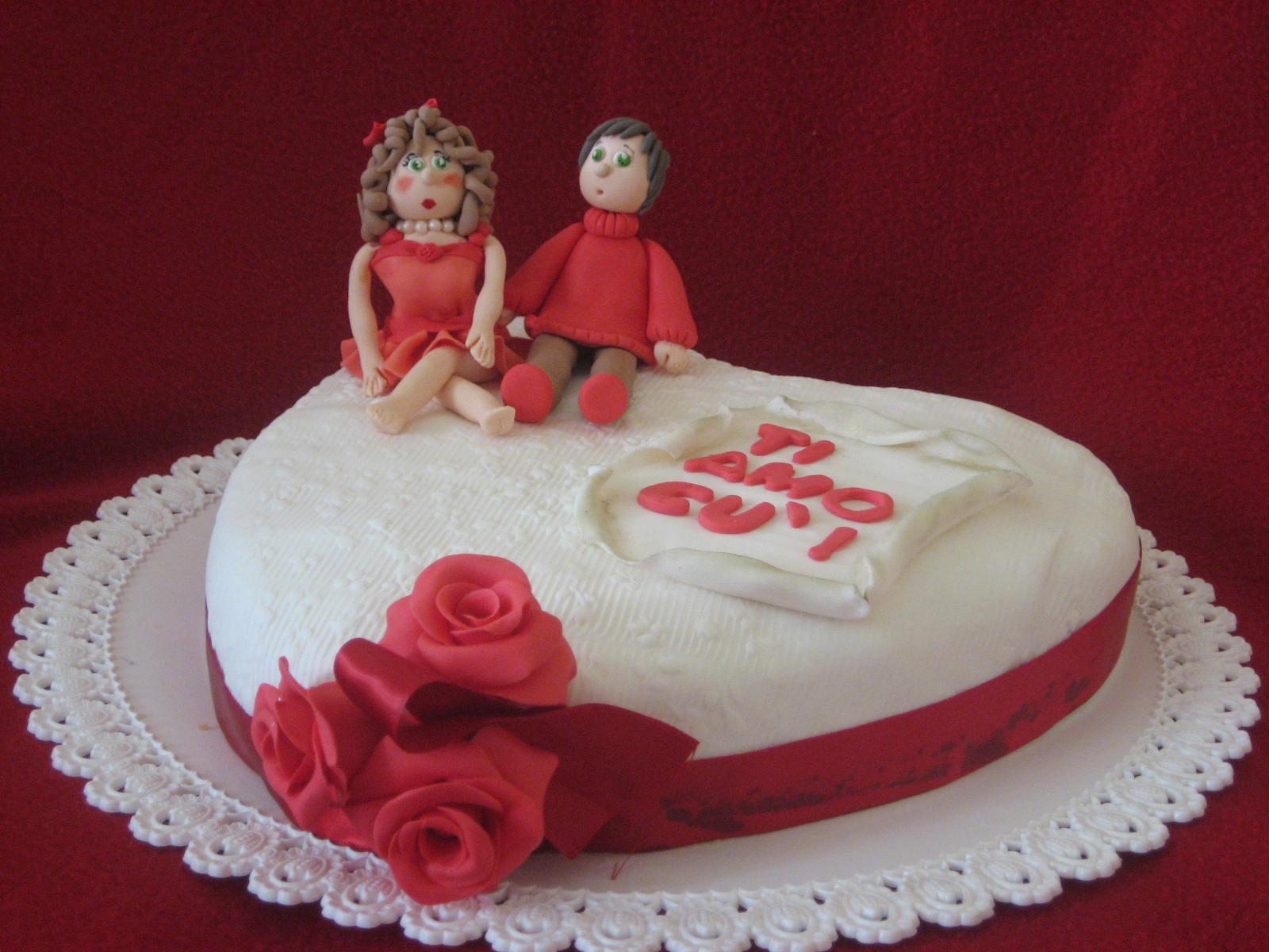 Auguri Anniversario Matrimonio Marito : L angelo delle torte di cristina genovese torta due