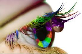 Colorful Eyelashes Eye Makeup