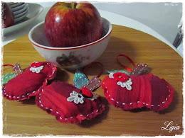 sachês maçãs