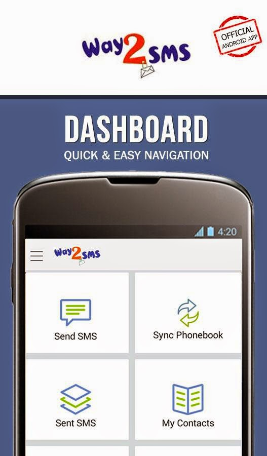 Way2SMS for Android update brings Improved SMS delivery, and more