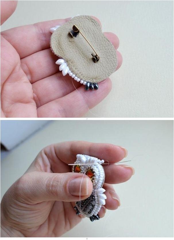 Как сделать маленькие брошки своими руками