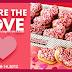 Heart Shaped Doughnuts from Krispy Kreme